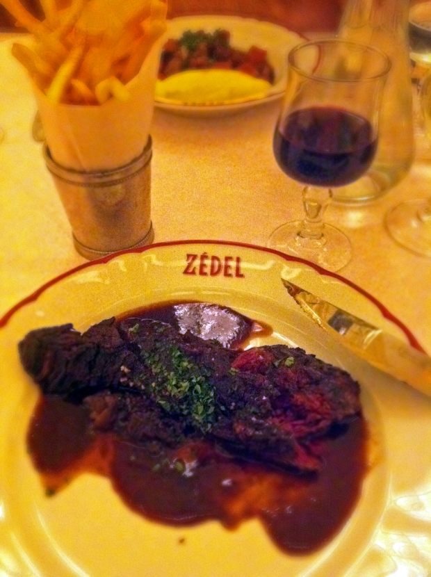 Hanger steak Brasserie Zedel We Love Food, It's All We Eat